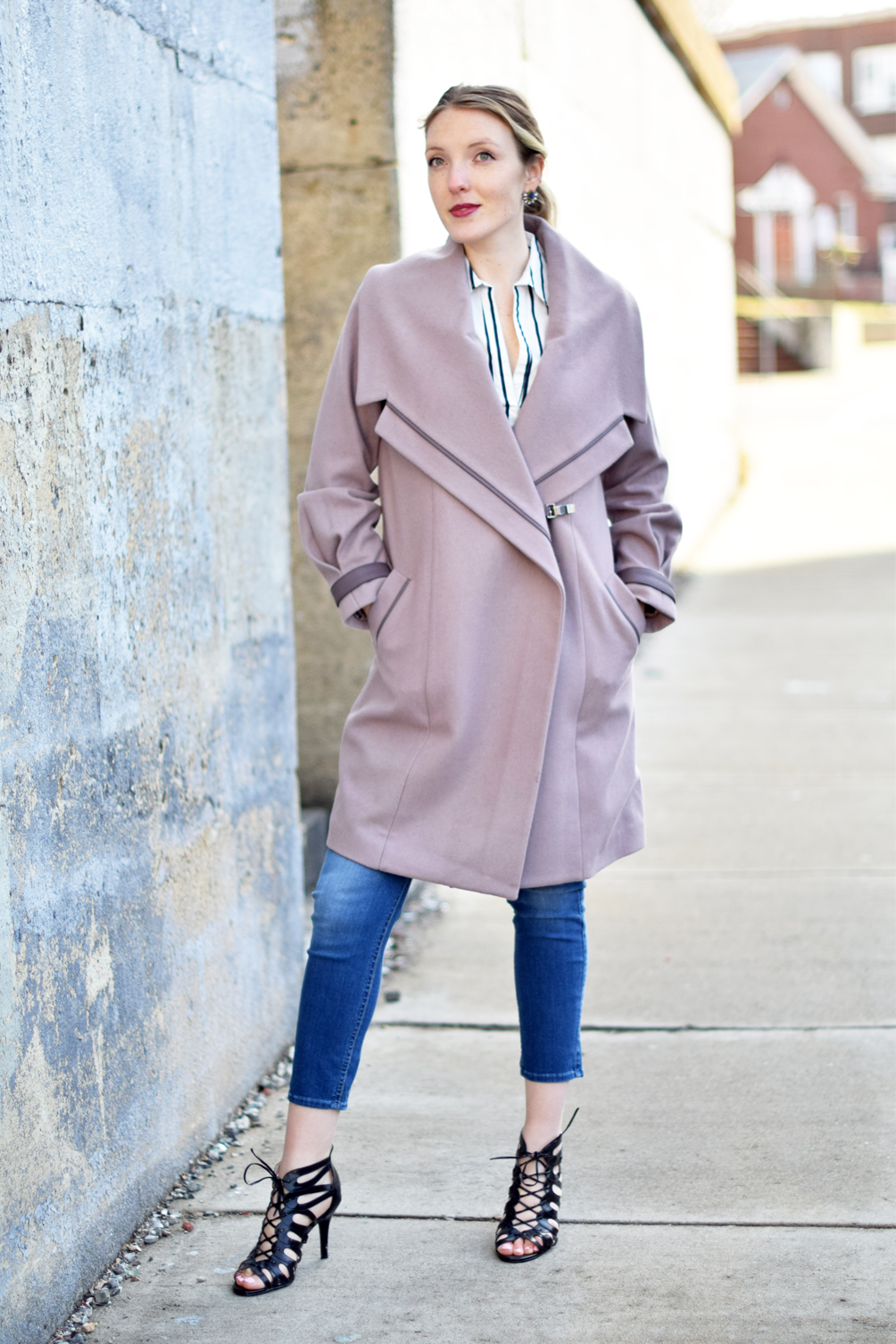 winter to spring style transition - one brass fox