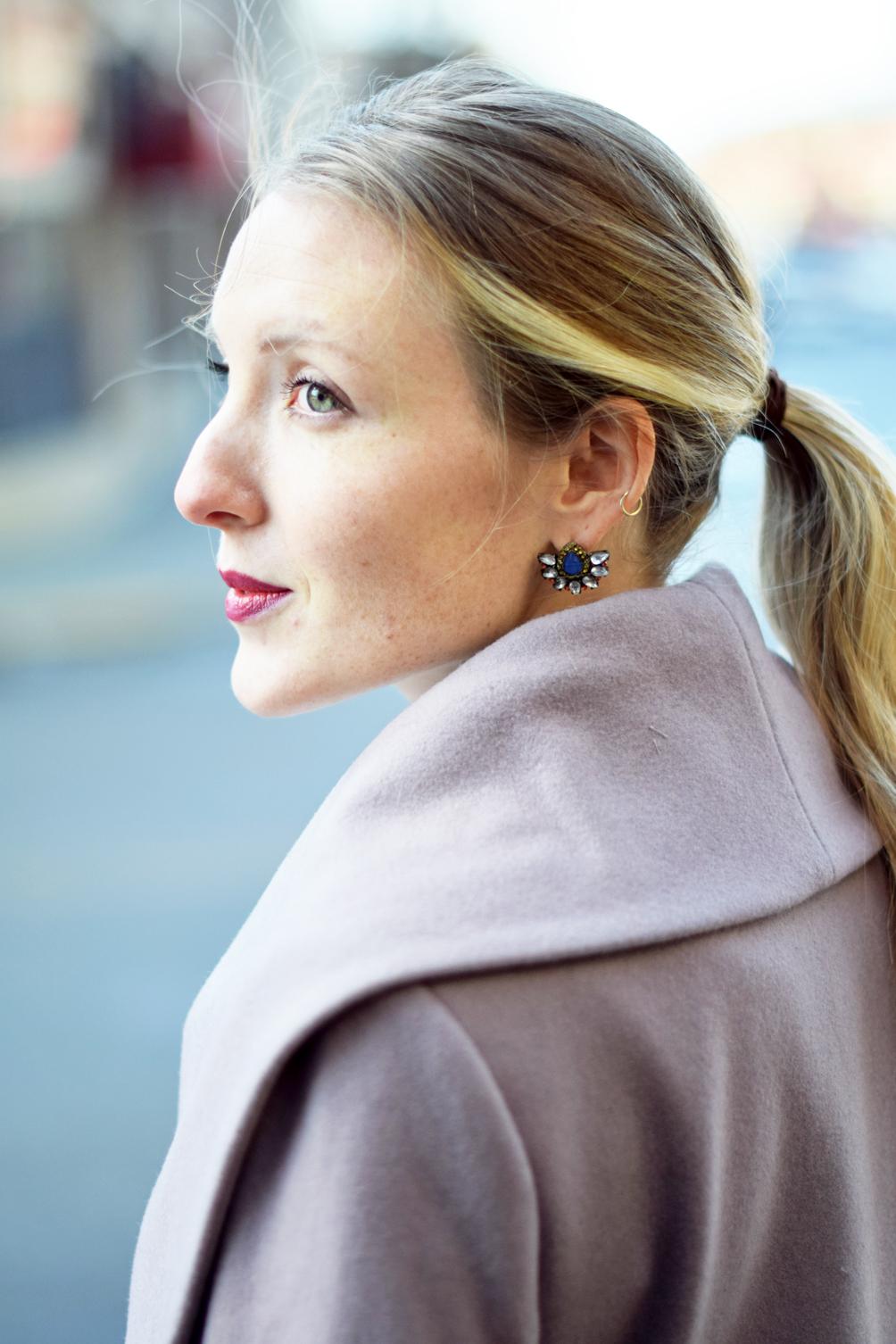 anthropologie statement earrings - one brass fox
