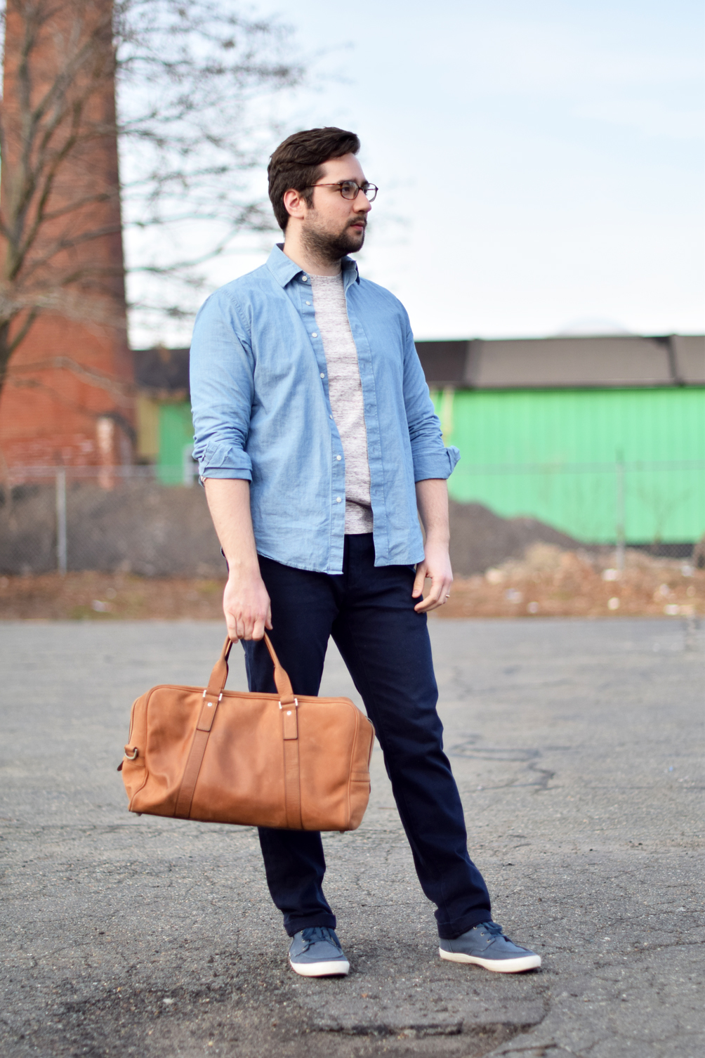 men's layered spring style - one brass fox