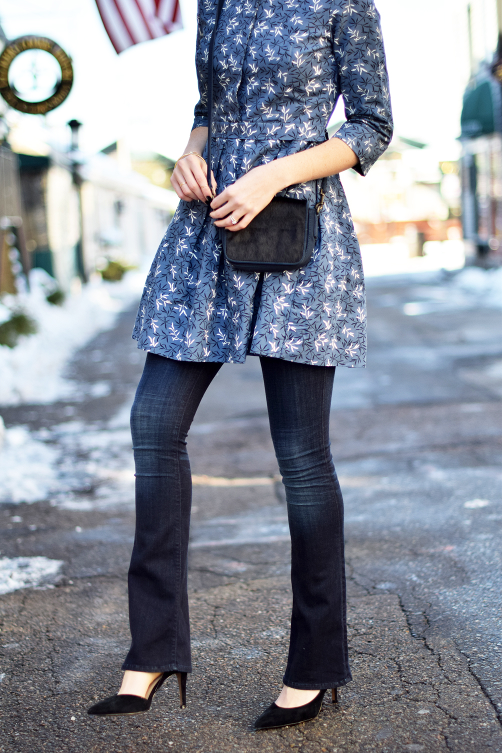 Flared Dress Over Jeans One Brass Fox
