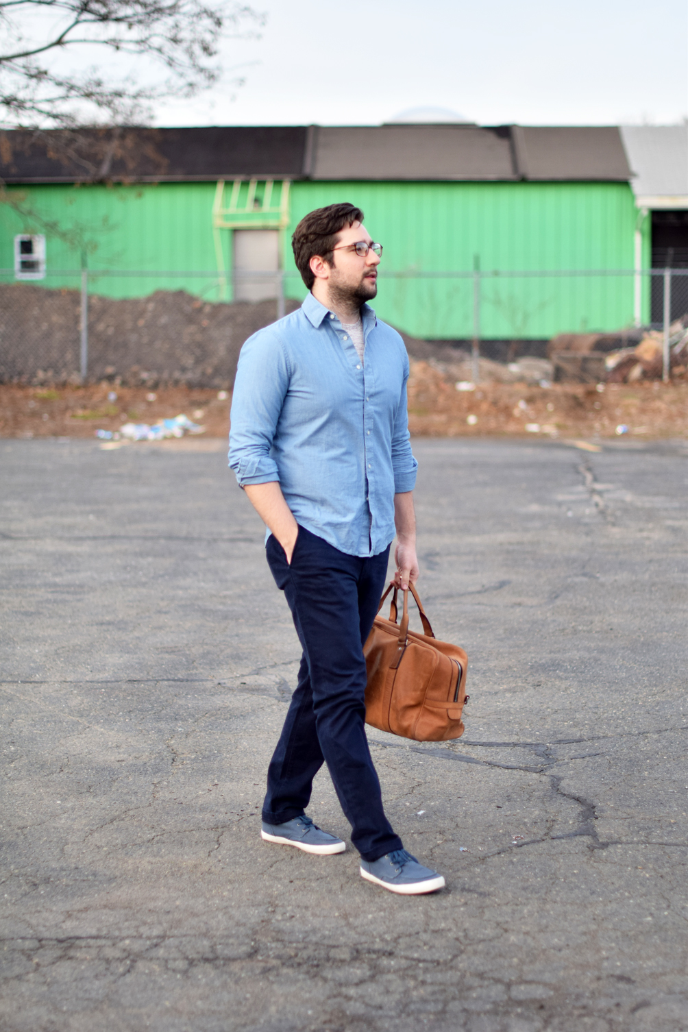 men's spring style in shades of blue - one brass fox