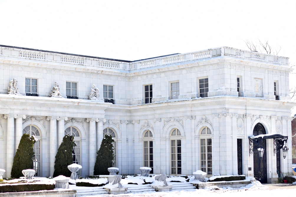 Rosecliff Mansion in Newport - one brass fox
