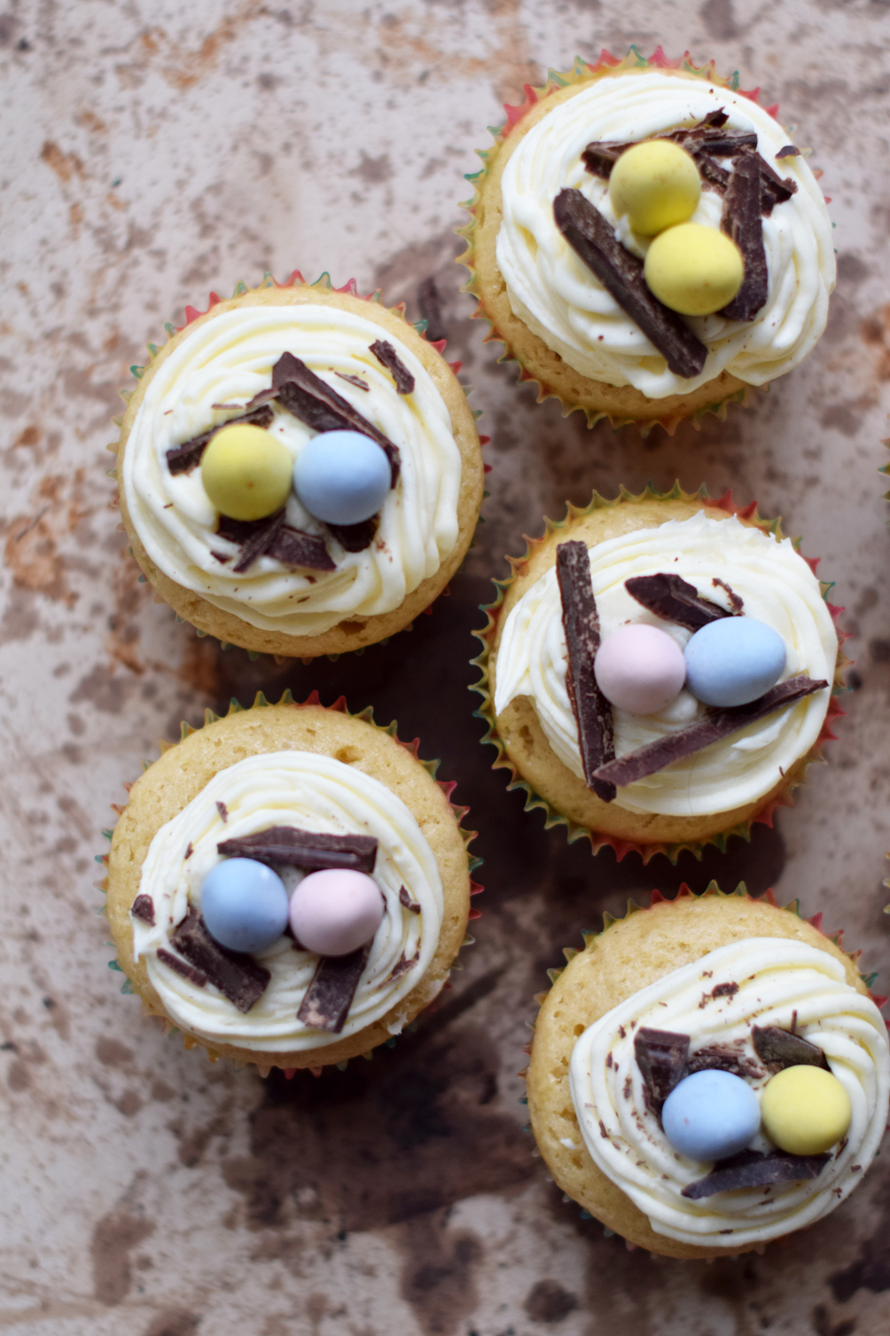 white chocolate easter egg cupcake - one brass fox