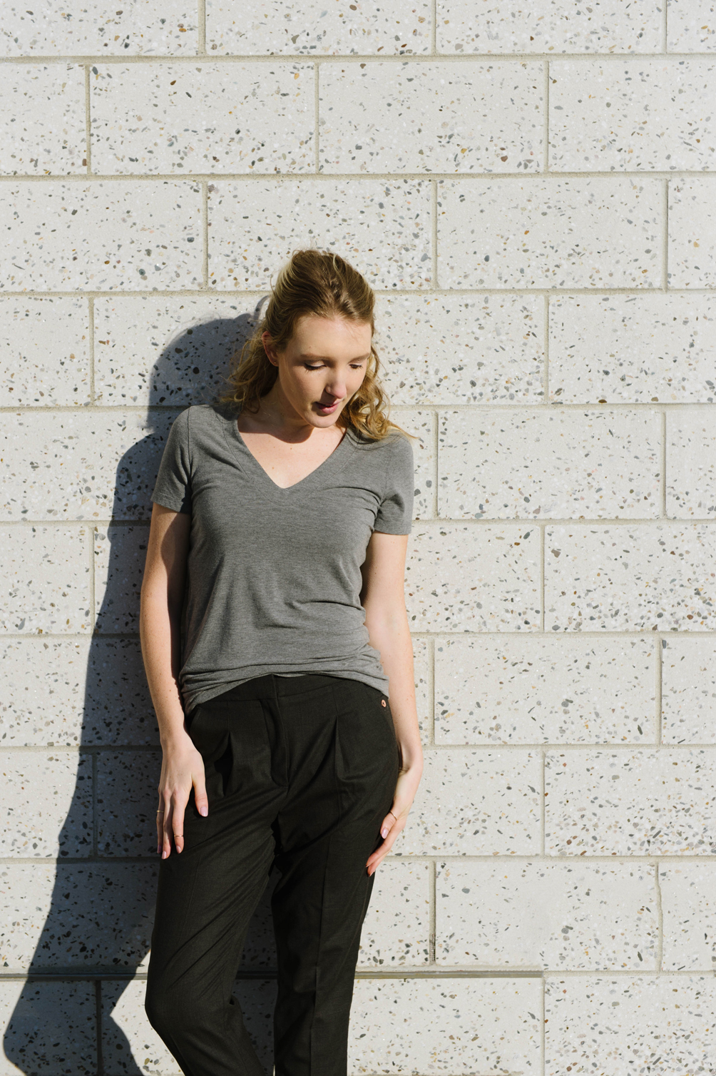 Kit & Ace technical cashmere tee - one brass fox