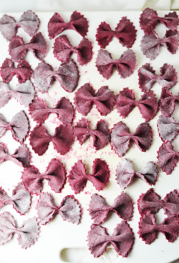 Homemade-Farfalle-Beet-Pasta-by-Natalie-Paramore