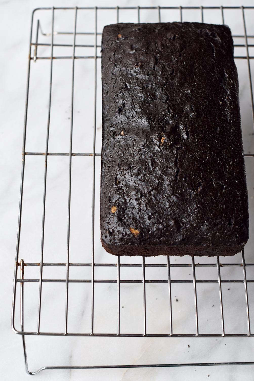 chocolate loaf cake recipe - one brass fox