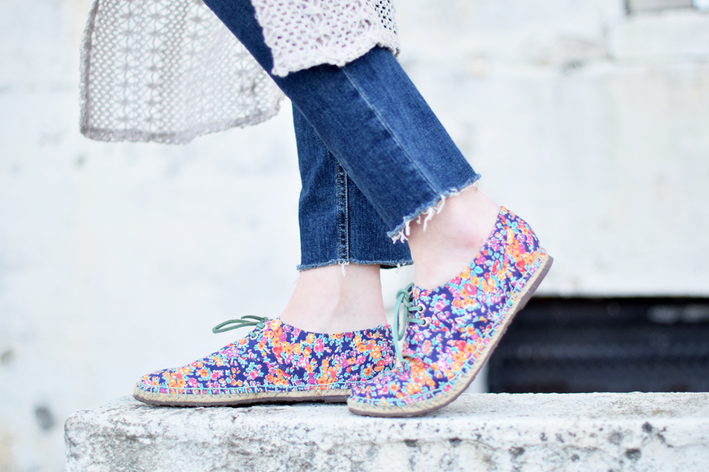 sebago floral espadrilles with - one brass fox