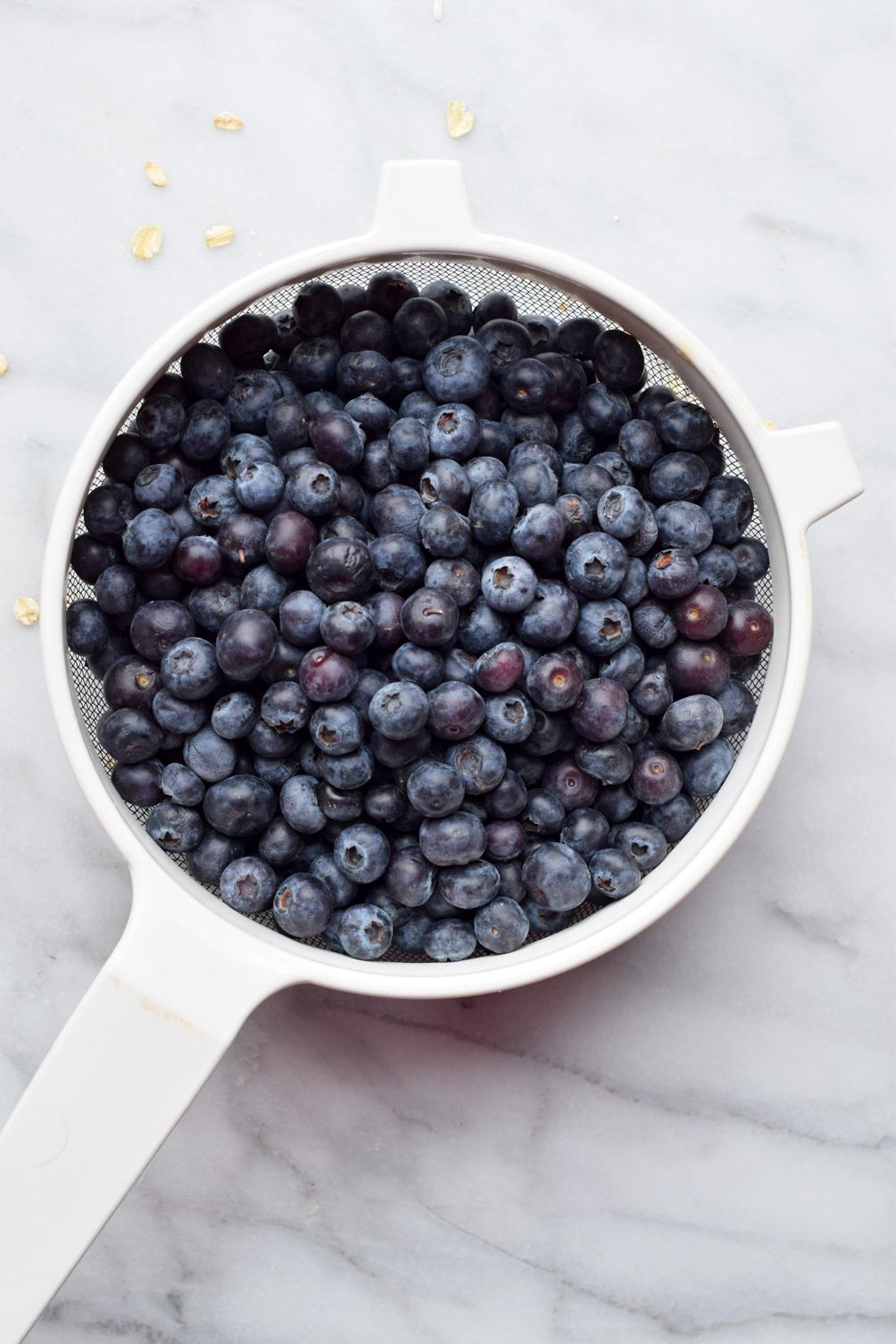 fresh blueberries in spring - one brass fox