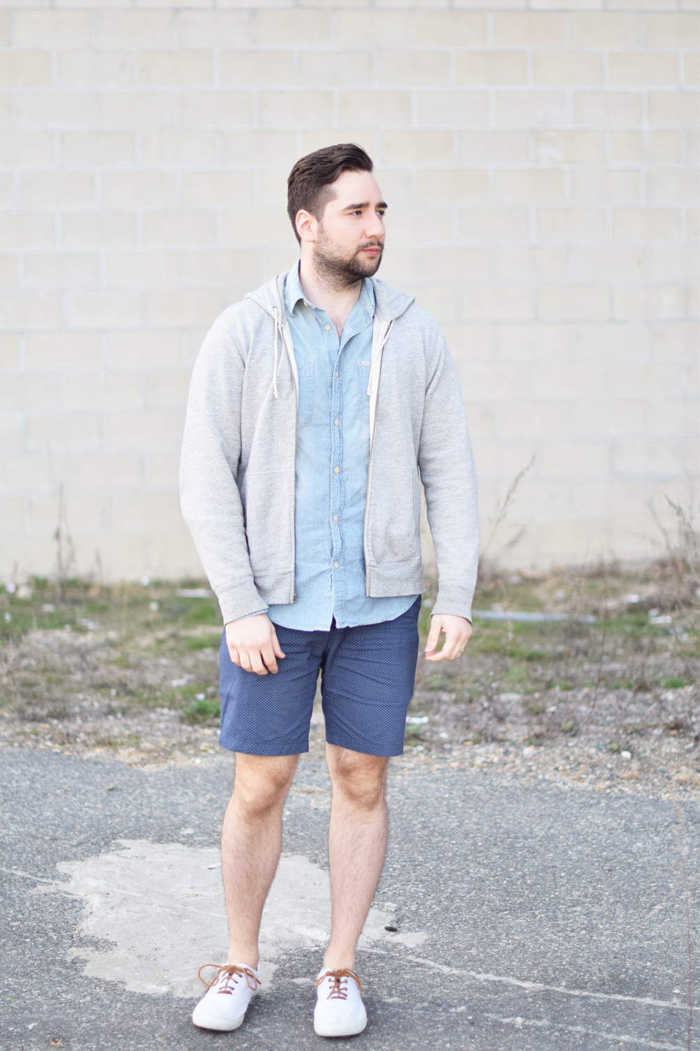 men's patterned shorts for spring - one brass fox