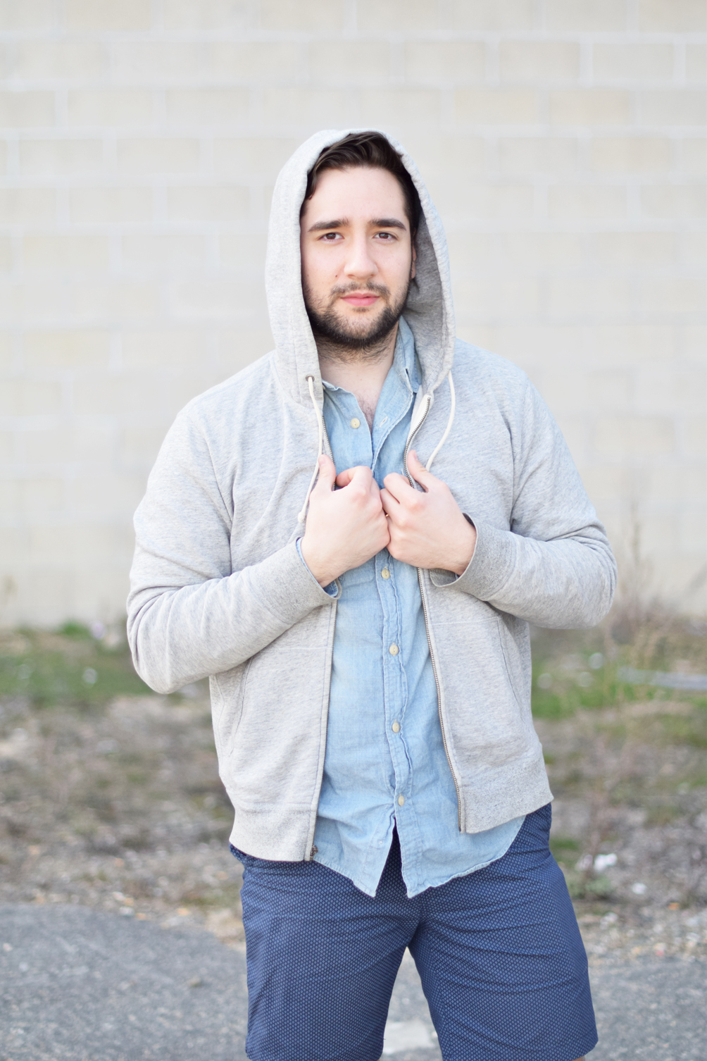 laidback hoodie and chambray shirt - one brass fox