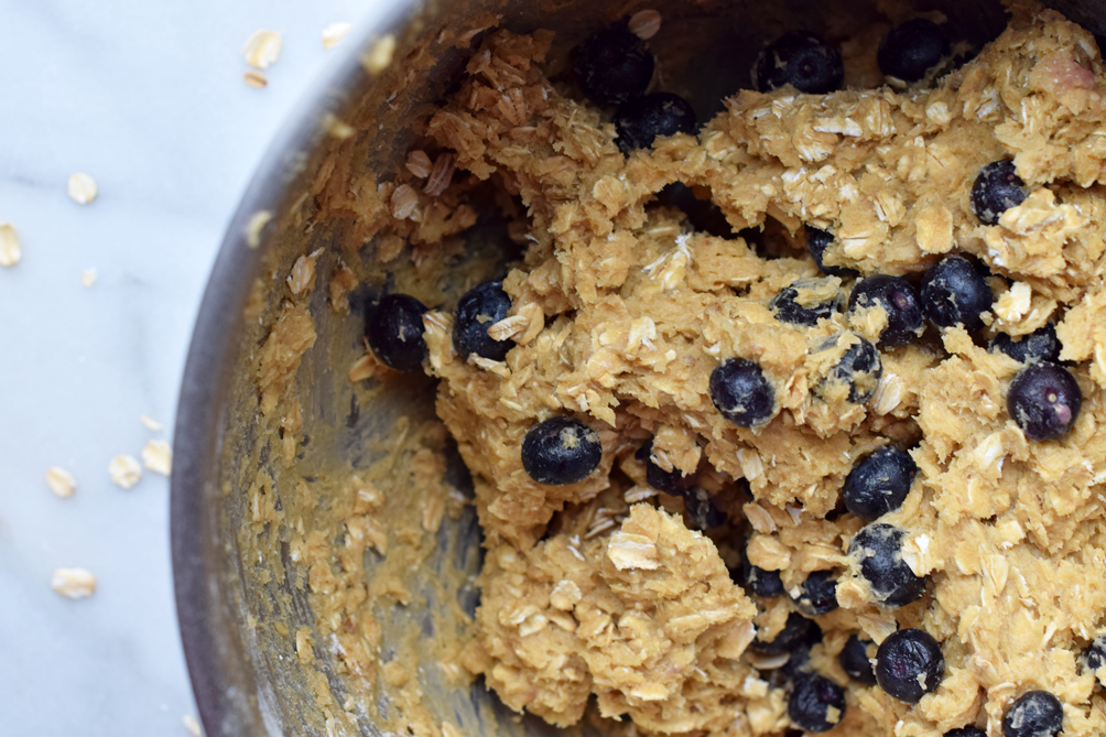 blueberry oatmeal cookie dough