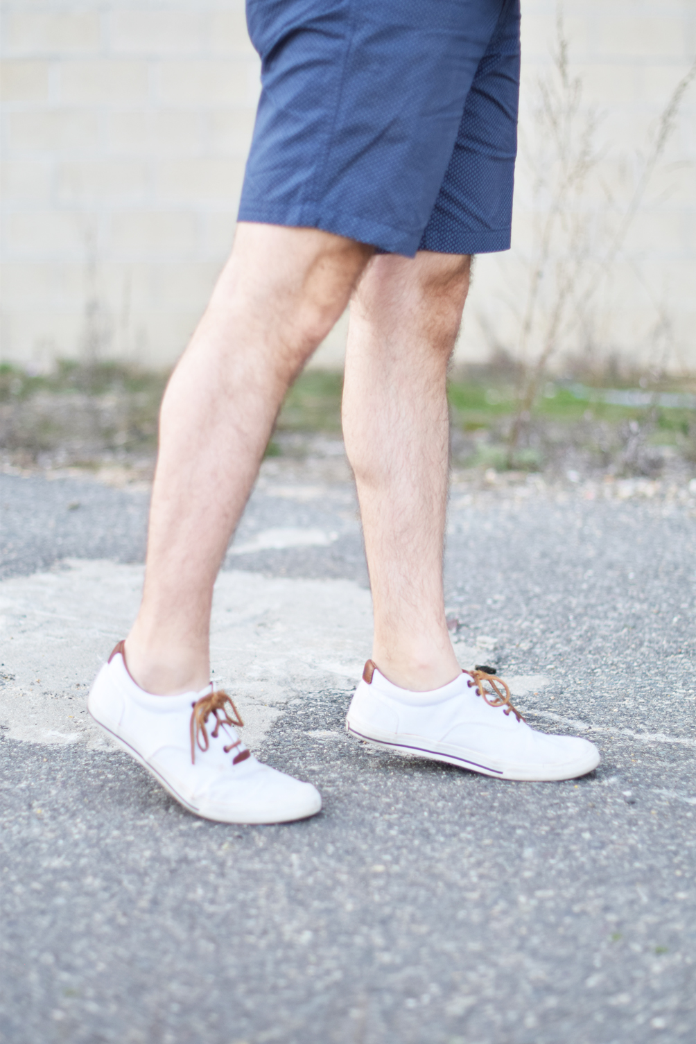 men's white spring sneakers - one brass fox