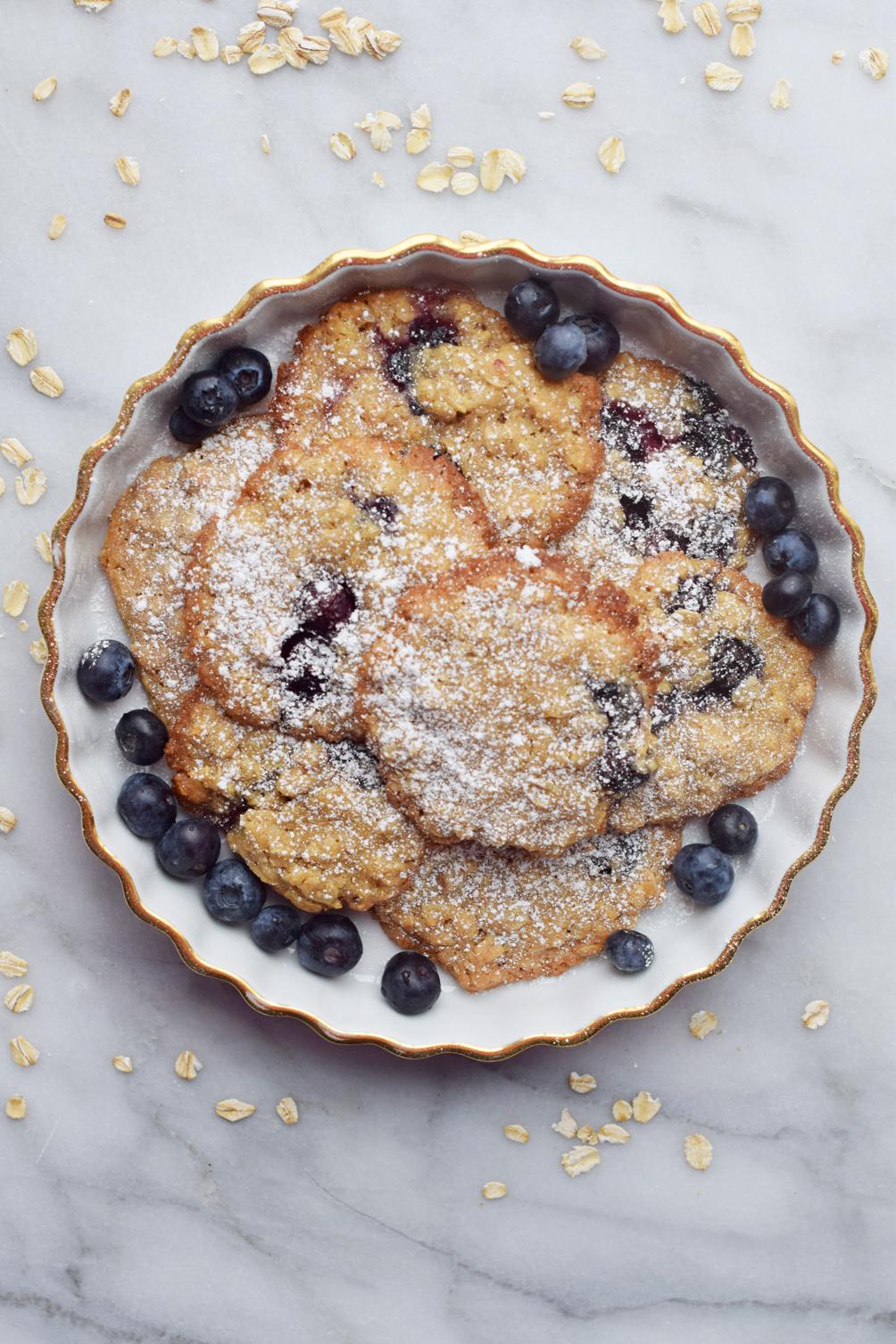blueberry oatmeal cookies - one brass fox
