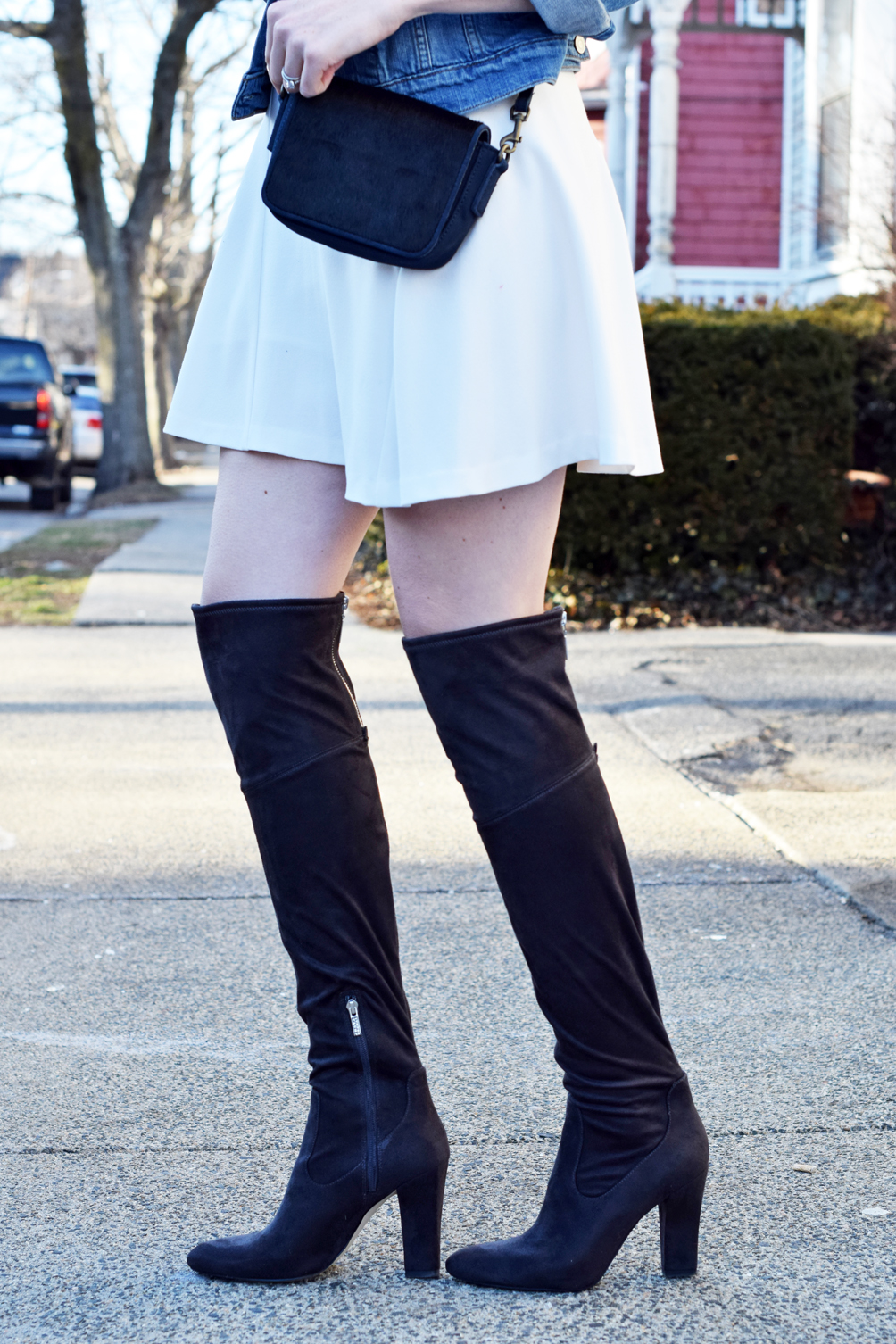 over the knee boots for spring - one brass fox