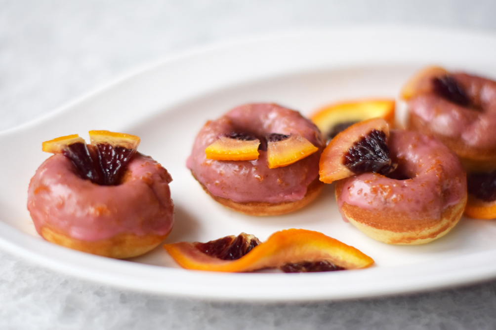 blood orange glazed donuts recipe - one brass fox