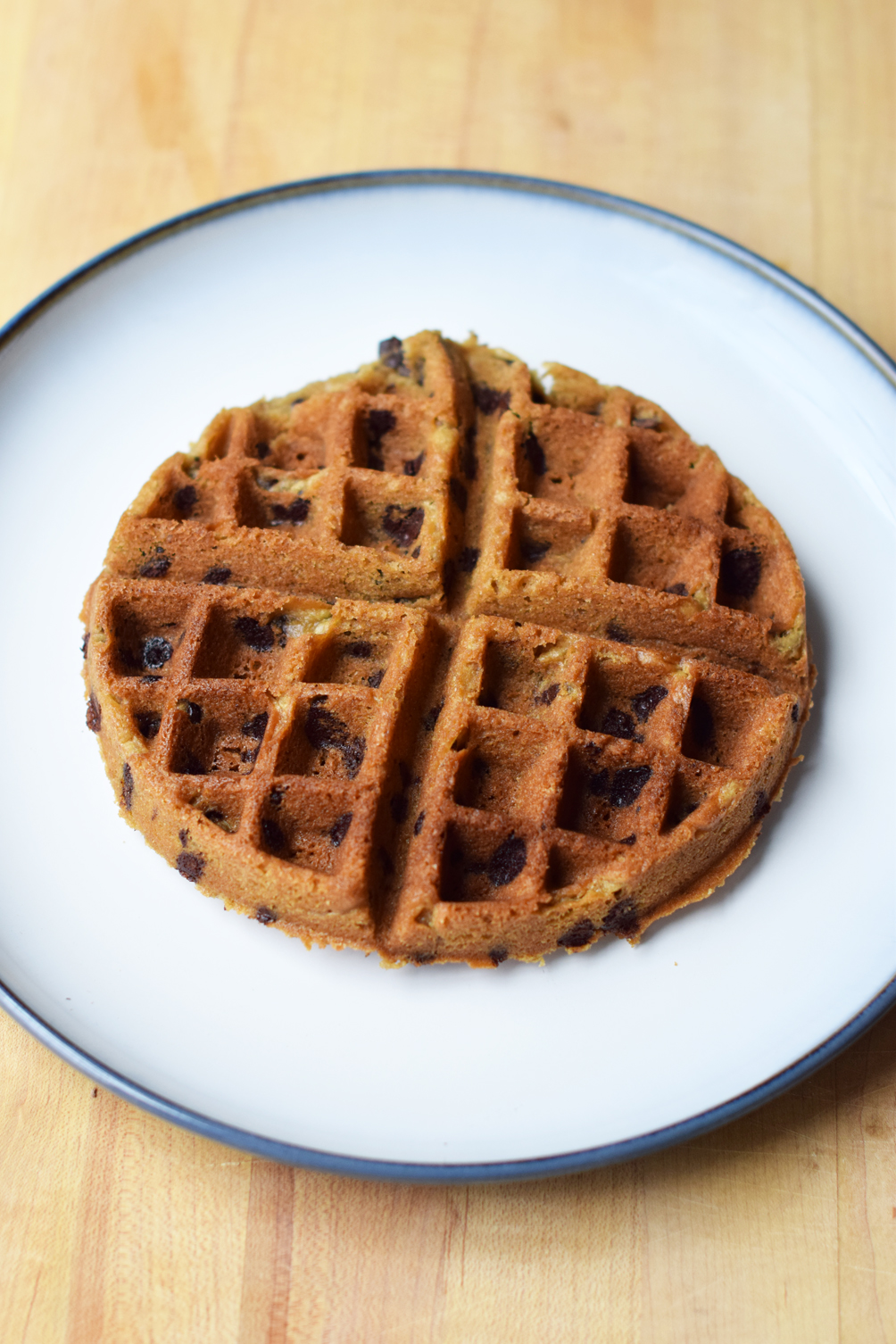 chocolate chip waffle cookie recipe - one brass fox