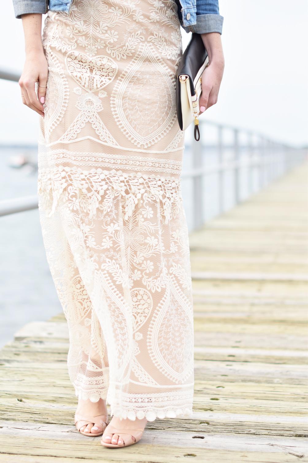 BHLDN peekaboo lace dress - one brass fox
