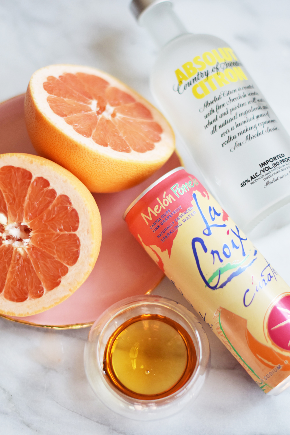 Leslie Musser of one brass fox mixes up the perfect summer drink with this sparkling grapefruit cocktail
