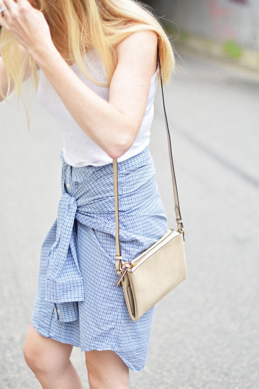 Button Down Shirt Skirt One Brass Fox