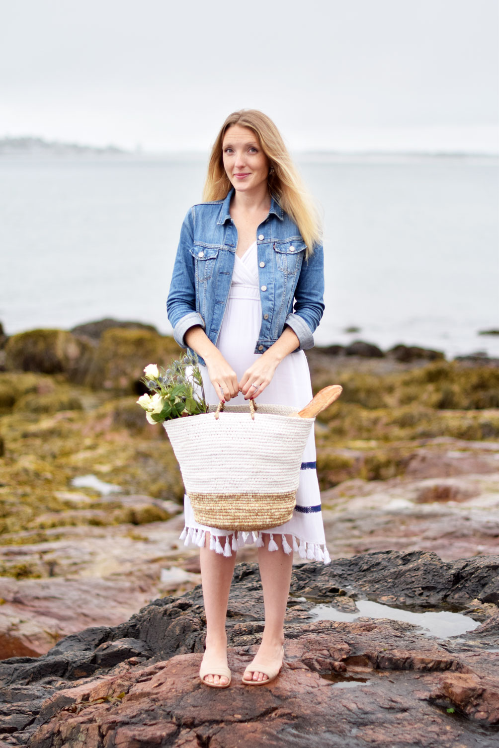 lifestyle blogger Leslie Musser of one brass fox shares how to host the perfect summer picnic with Boston Interiors