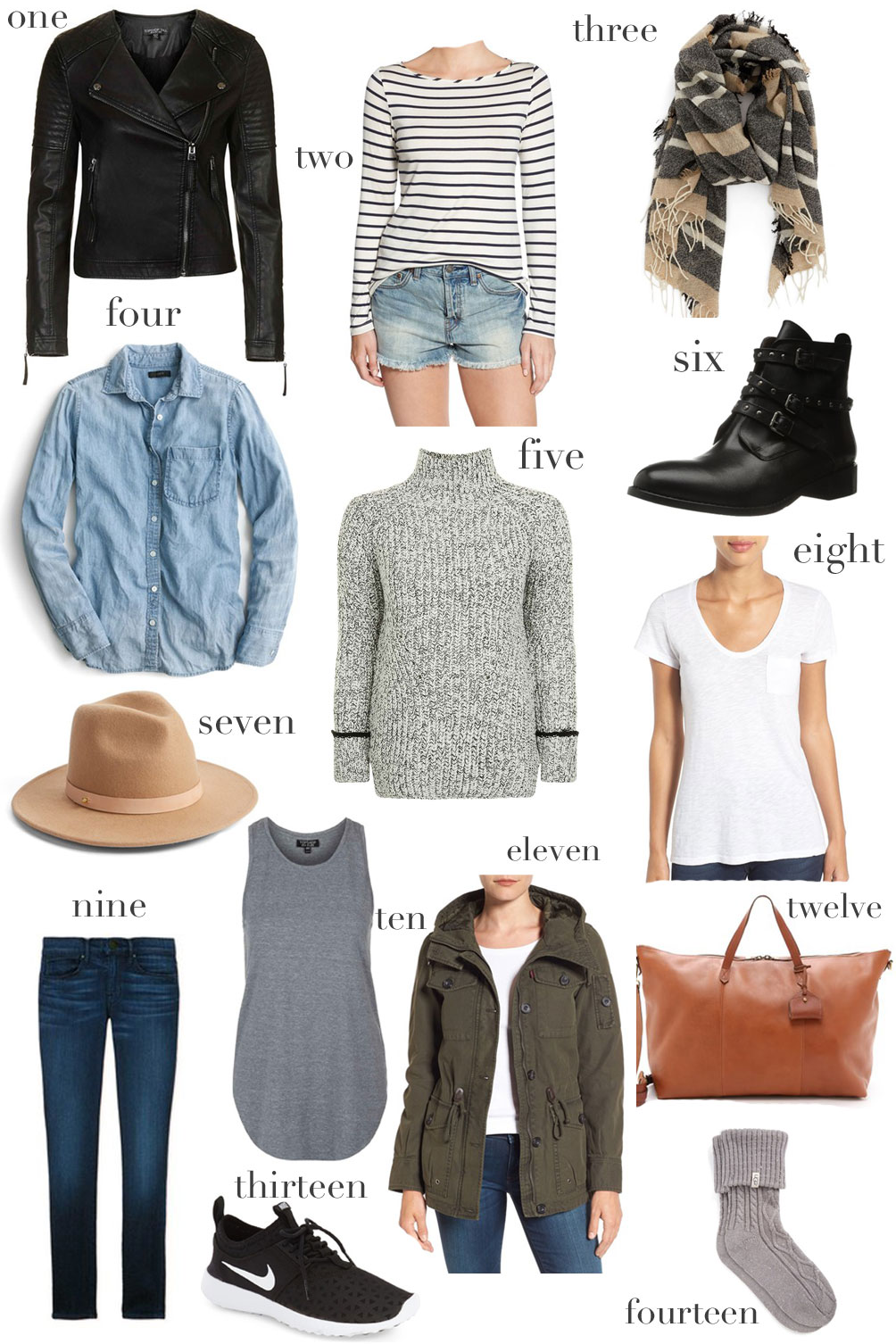 Leslie Musser fall getaway packing list on one brass fox
