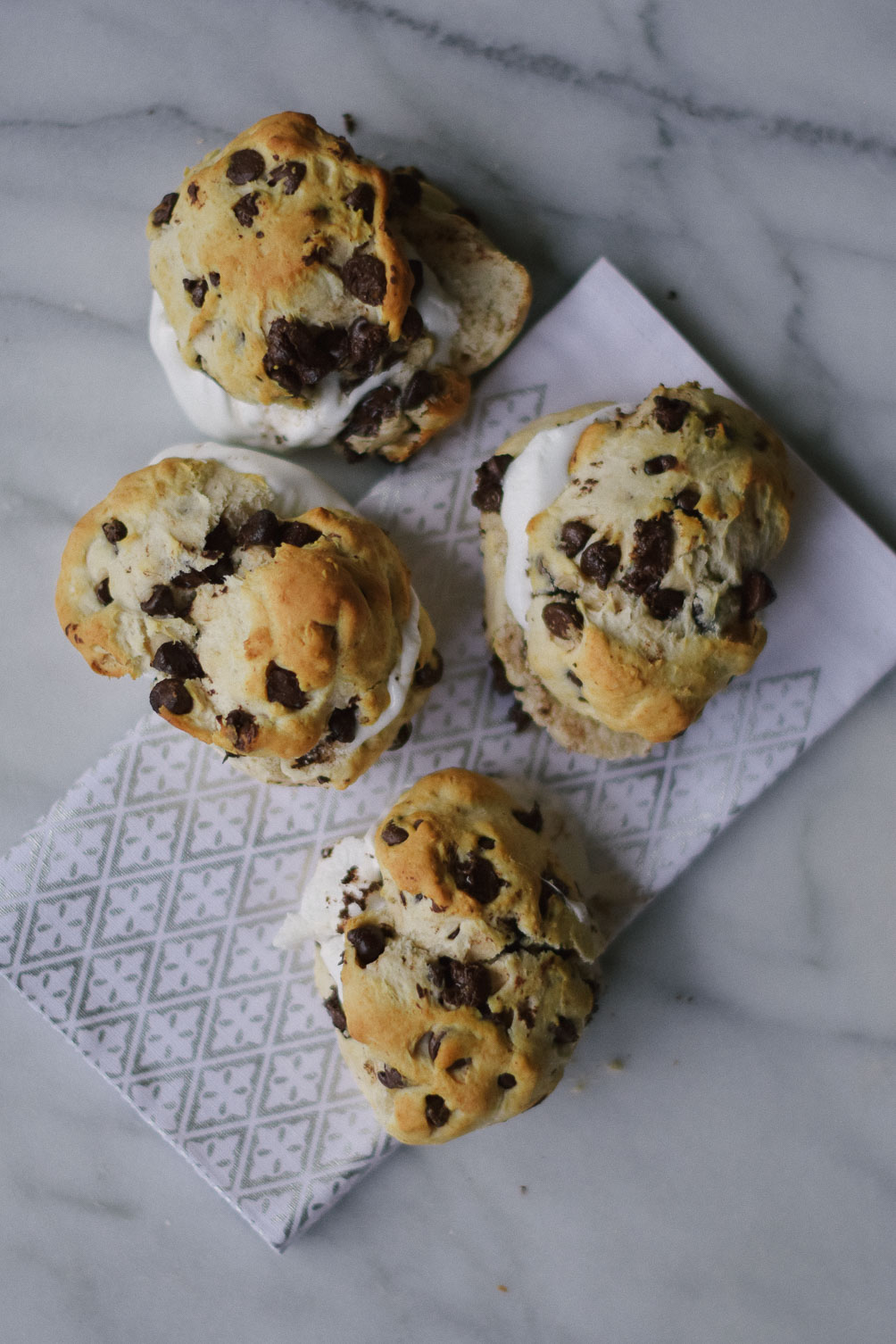 chocolate chip biscuit smores easy fall recipe for breakfast or dessert on one brass fox