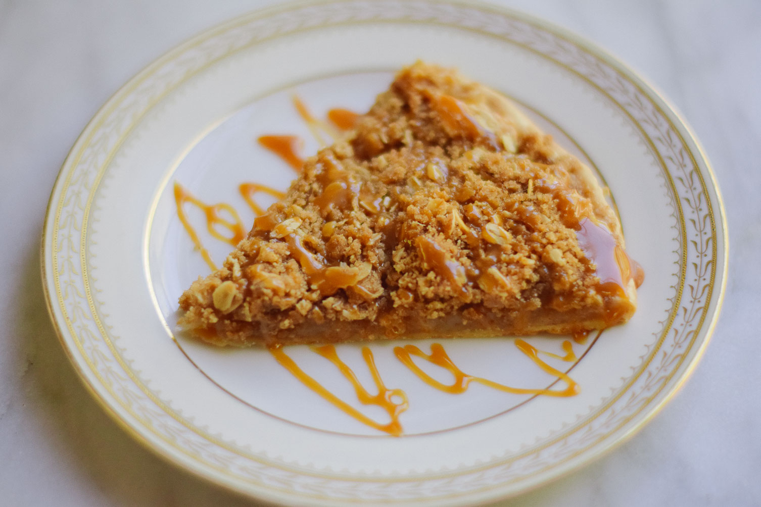 easy delicious fall recipe for apple crisp pizza on one brass fox