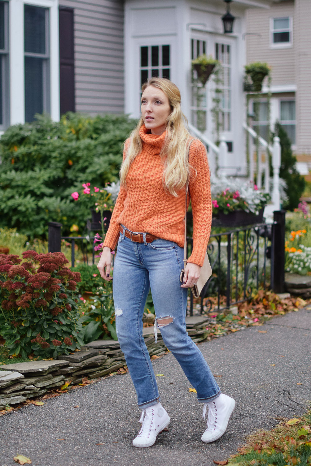 Leslie Musser sharing sweater weather style for fall winter on one brass fox
