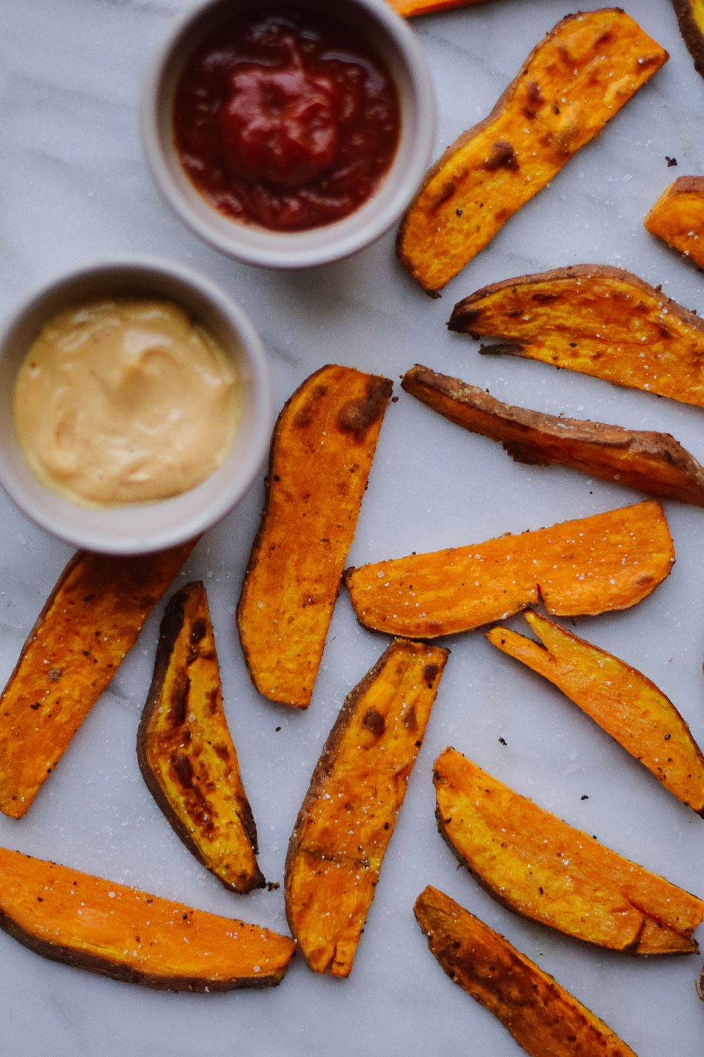 easy sweet potato steak fries recipe for a winter snack