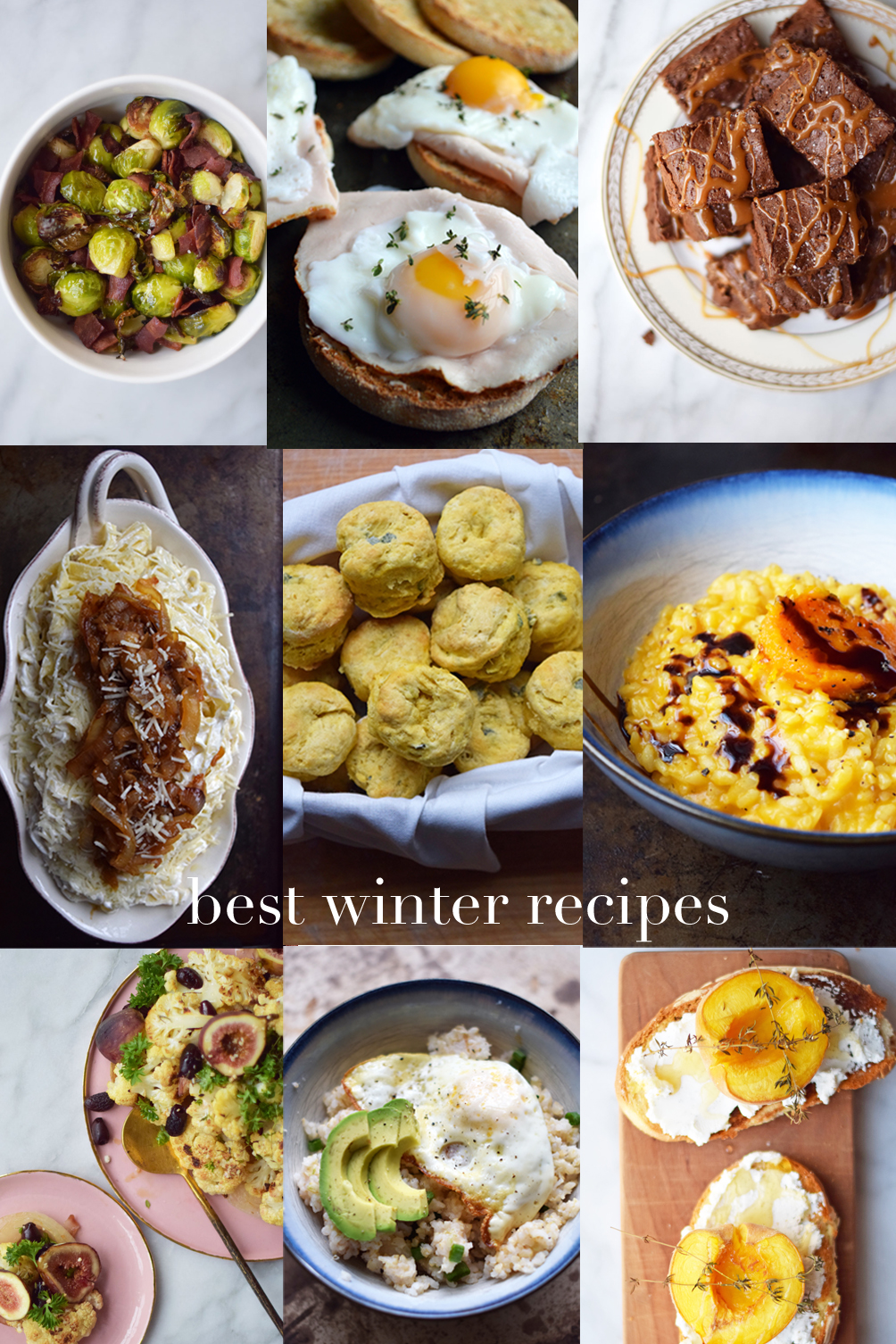 sharing nine of the best winter recipes for breakfast, lunch, dinner, and dessert