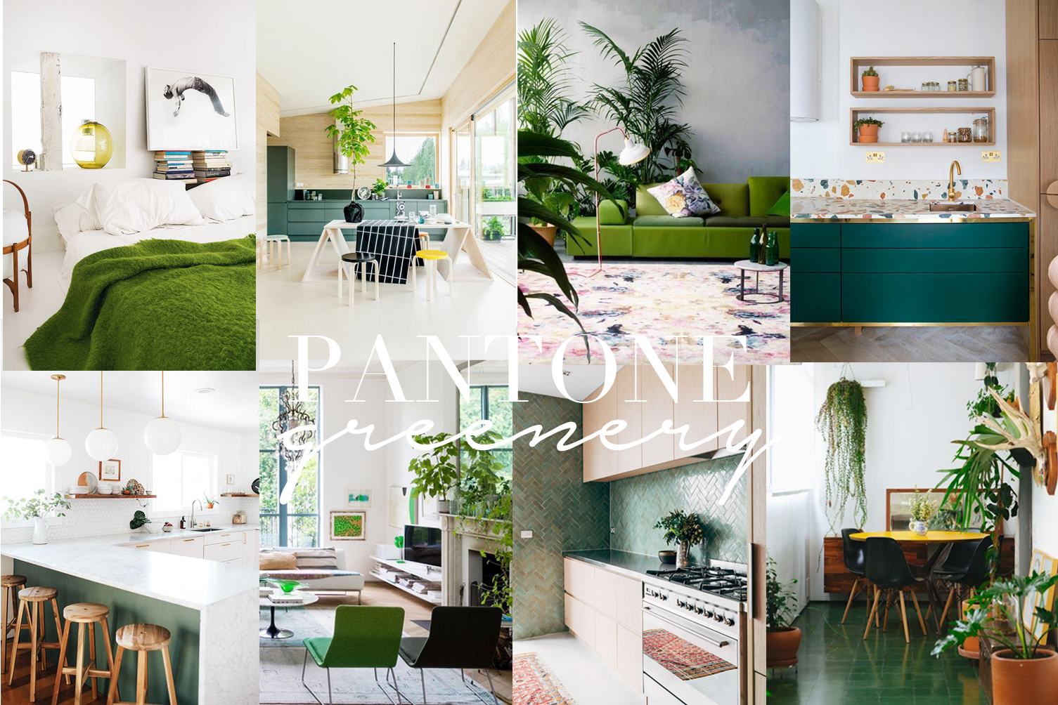 pantone color of the year greenery interior design ideas
