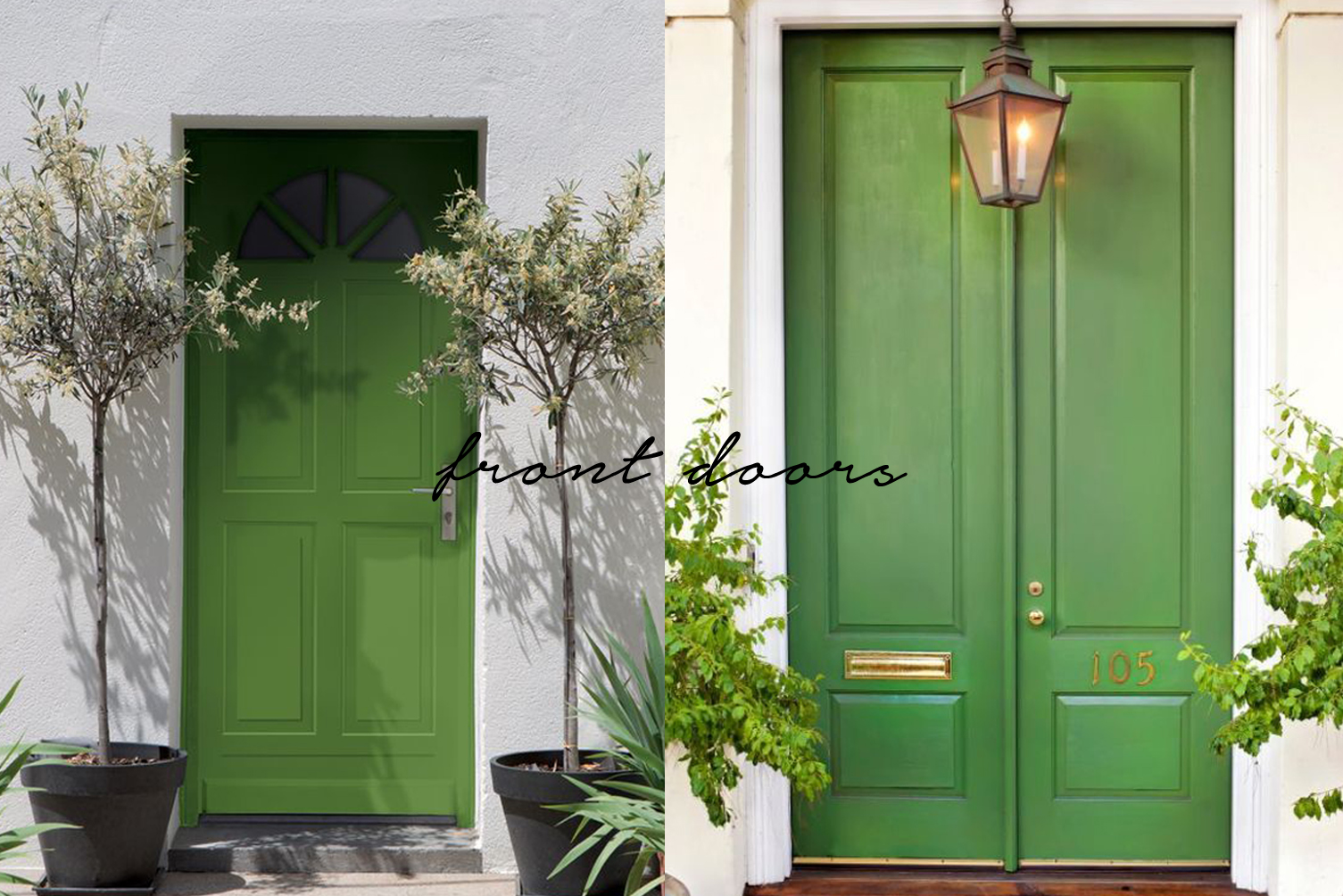 pantone greenery color of the year 2017 front doors