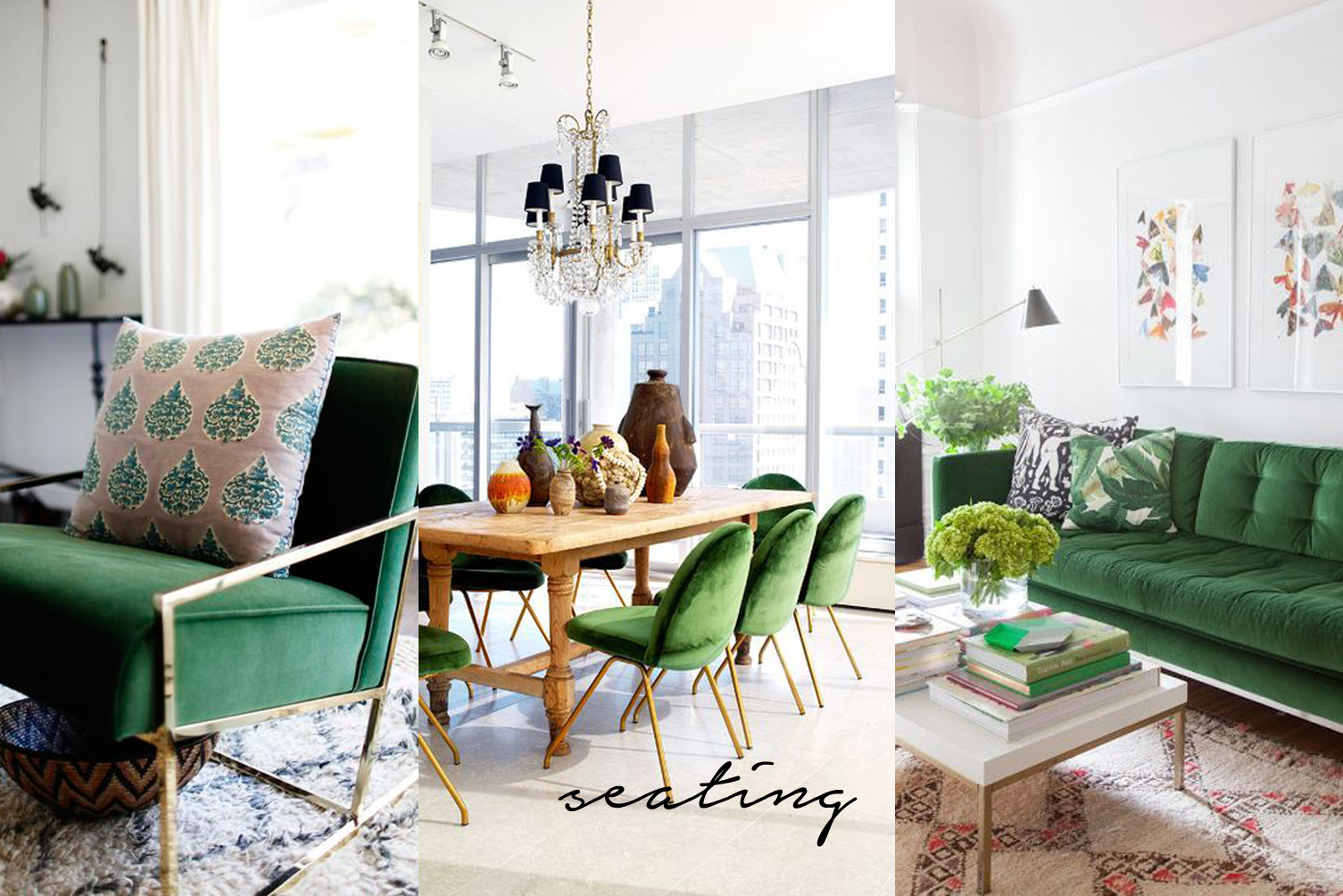 pantone greenery seating interior design ideas