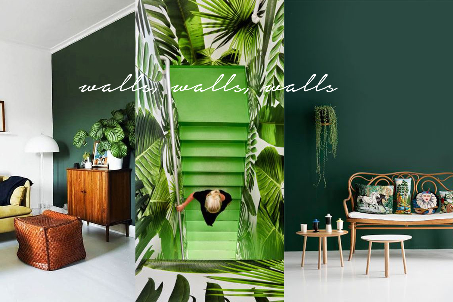 pantone greenery paint color and wallpaper interior design ideas
