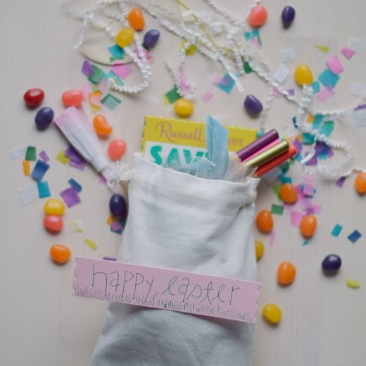 creating a modern easter basket for friends