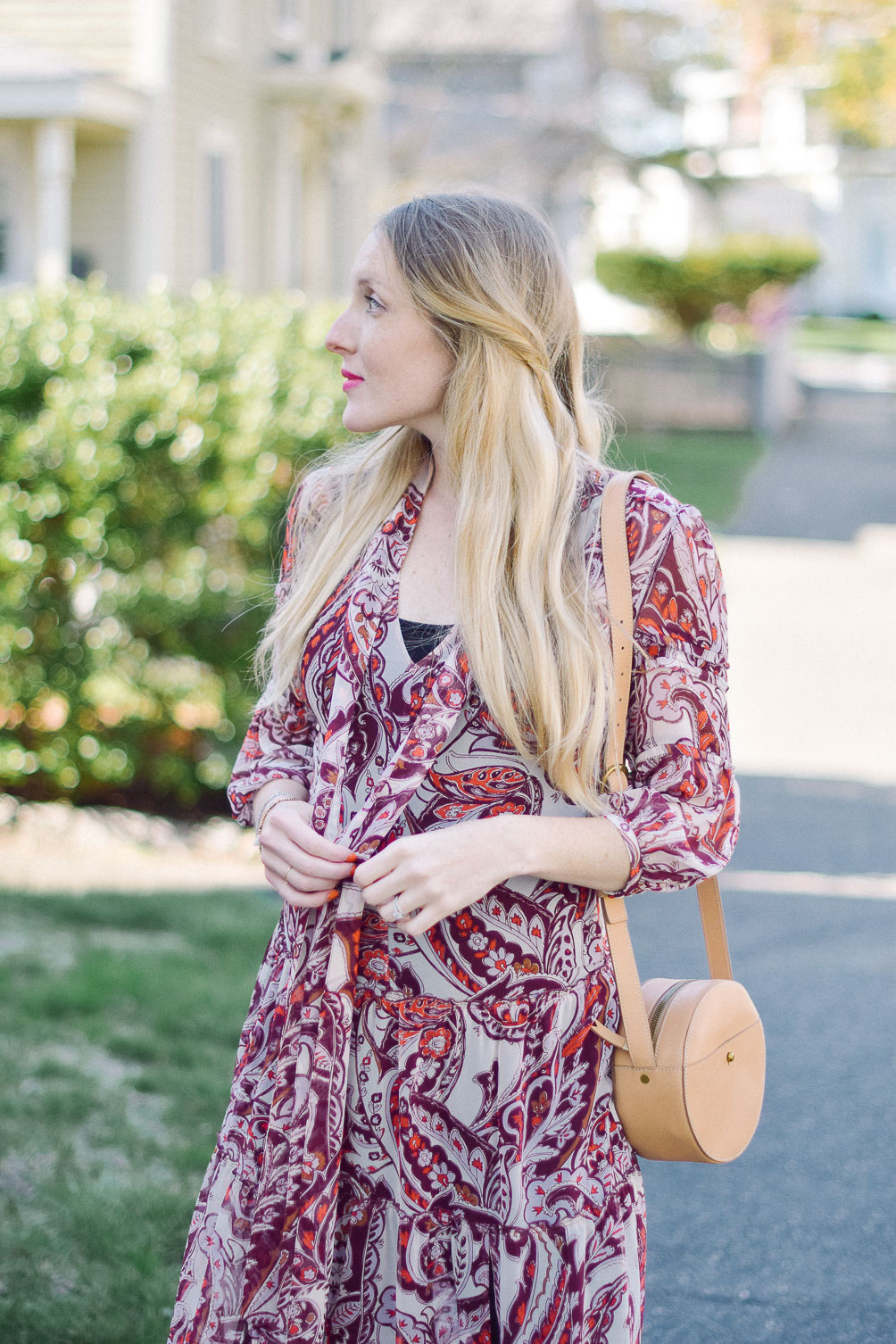 sheer overlay dress spring maternity style