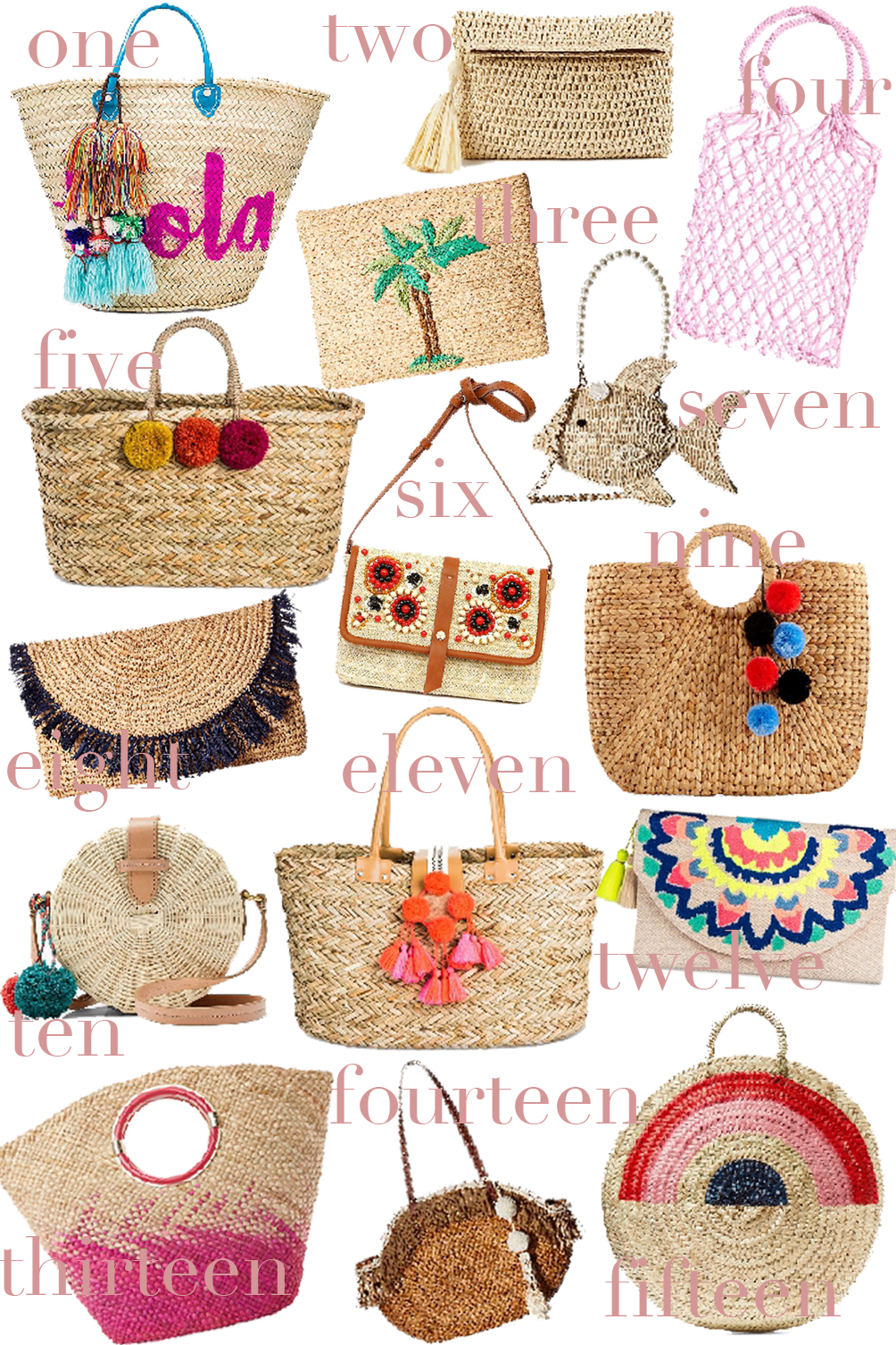 straw bags - woven trend for spring and summer