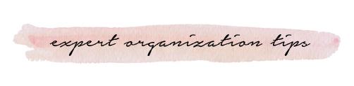 expert organization tips