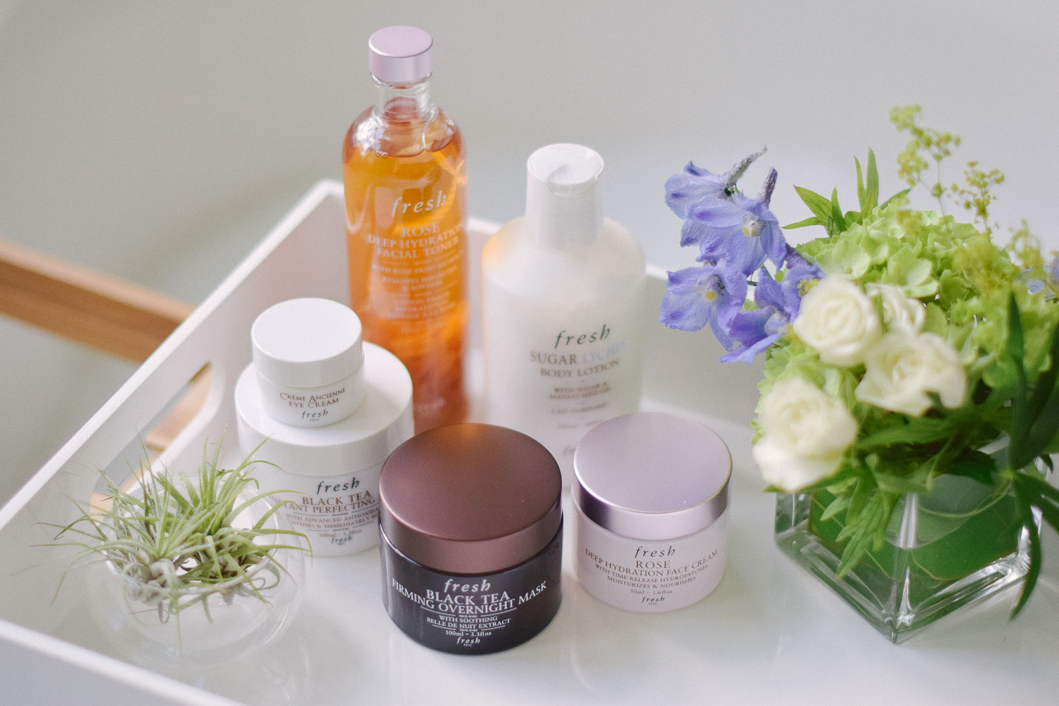 sharing fresh cosmetics skincare routine for a new mom