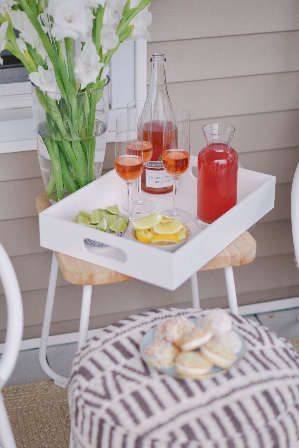 Article Hosts - small space outdoor entertaining with modern, affordable furniture and decor