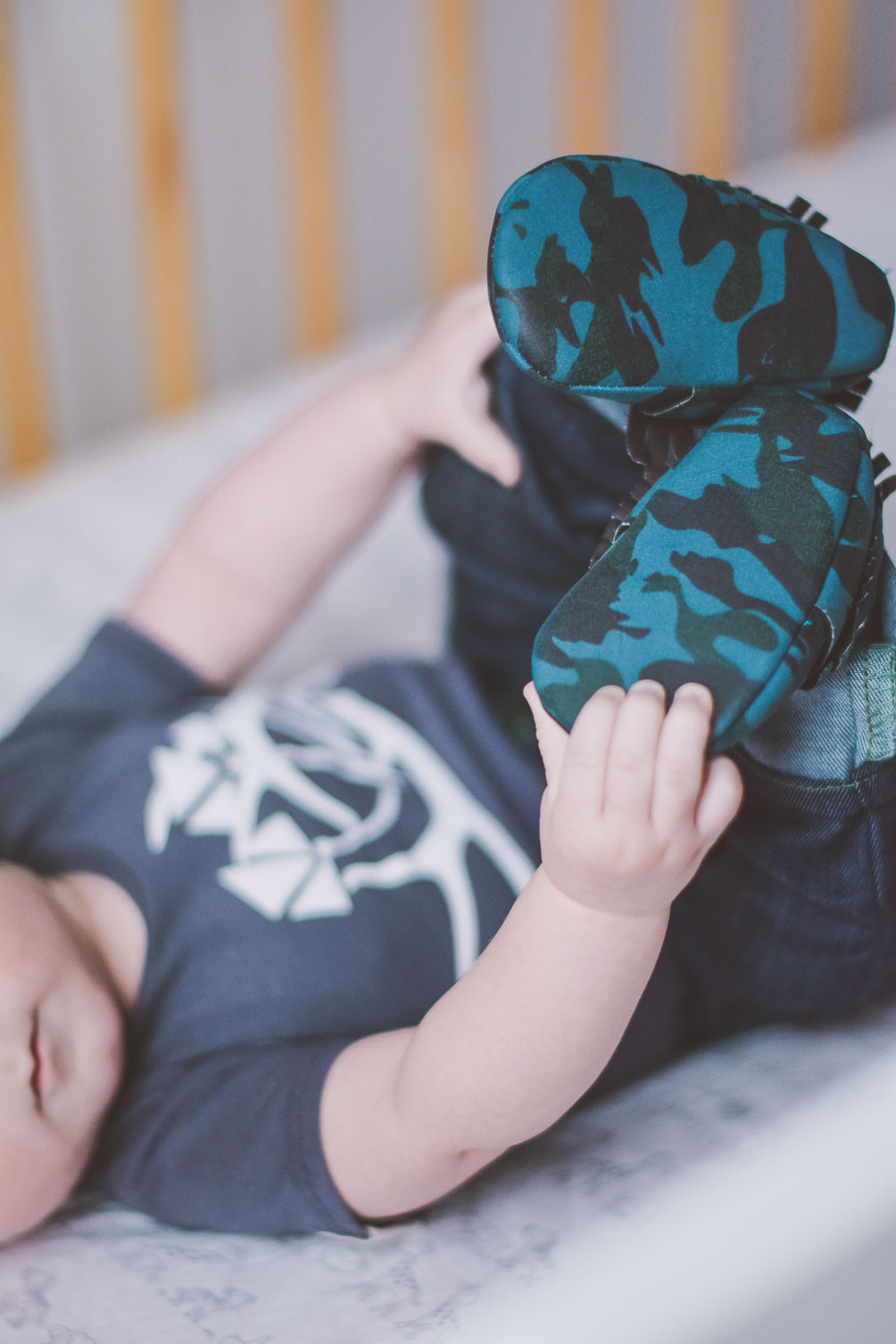 blue camo moccasins for baby boy