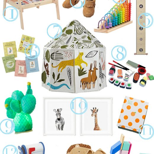 what to buy for babies and toddlers for the holidays or Christmas in this kids gift guide 2017