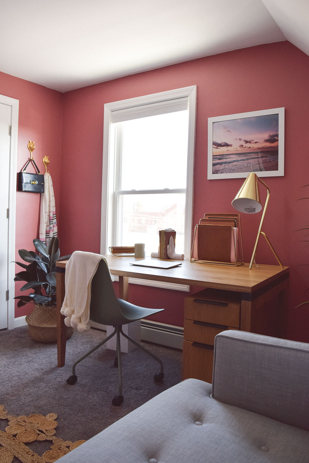 sharing our home office refresh tour with Article just in time for spring redecorating
