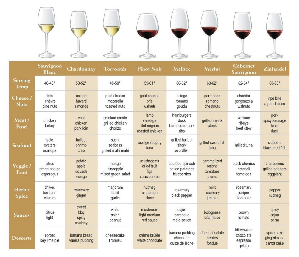 wine and wineglass food pairing guide for beginners