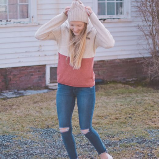 sharing five pieces to add to your winter wardrobe including this L.L. Bean sweater fleece pullover hoodie