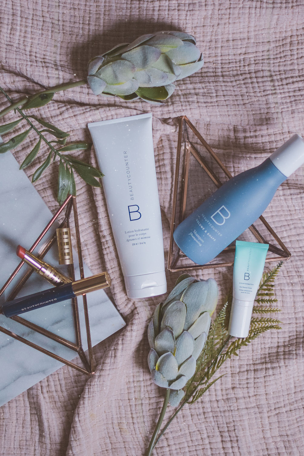sharing how to clean sweep your beauty routine with toxin-free safe products by Beautycounter