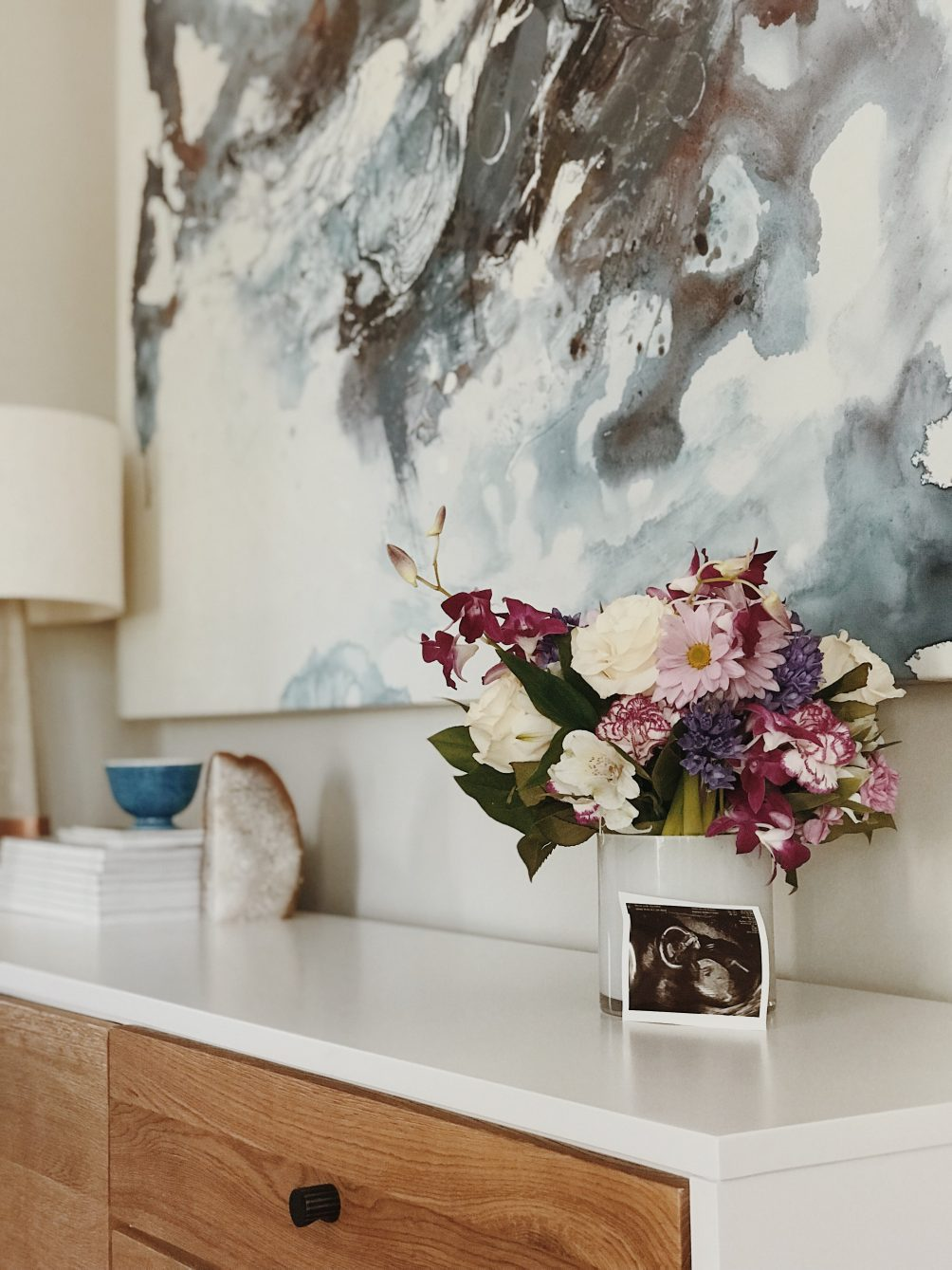 gender reveal for baby two from lifestyle blogger leslie musser - one brass fox