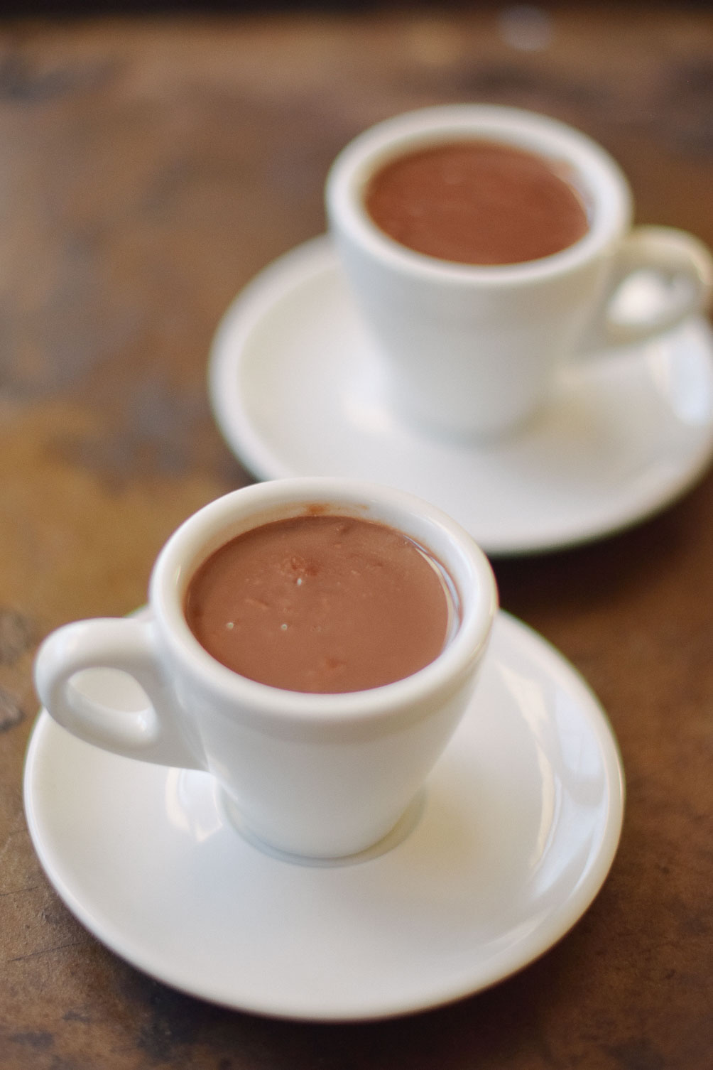decadent sipping chocolate recipe from Leslie Muser on one brass fox