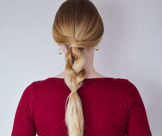 easy hairstyle messy half braid hair tutorial