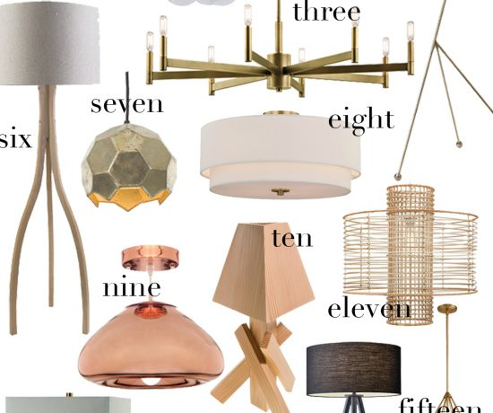statement lighting for the home